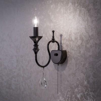 Citilux Рига CL437314 Светильник настенный браКлассика<br><br><br>Тип лампы: Накаливания / энергосбережения / светодиодная<br>Тип цоколя: E14<br>Количество ламп: 1<br>Ширина, мм: 200<br>MAX мощность ламп, Вт: 60<br>Длина, мм: 230<br>Высота, мм: 125