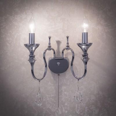 Citilux Рига CL437321 Светильник настенный браКлассические<br><br><br>Тип лампы: Накаливания / энергосбережения / светодиодная<br>Тип цоколя: E14<br>Количество ламп: 2<br>MAX мощность ламп, Вт: 60