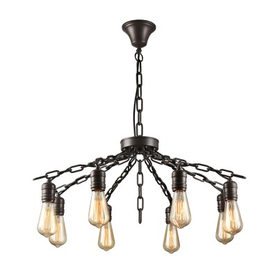 Citilux CL446181 Максвелл Светильник ЛюстраПодвесные<br><br><br>Установка на натяжной потолок: Да<br>S освещ. до, м2: 24<br>Тип лампы: Накаливания / энергосбережения / светодиодная<br>Тип цоколя: E27<br>Цвет арматуры: коричневый<br>Количество ламп: 8<br>Диаметр, мм мм: 750<br>Высота, мм: 550 - 1350<br>MAX мощность ламп, Вт: 60
