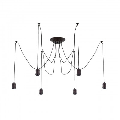 Citilux Эдисон CL451062 Люстра подвеснаяподвесные люстры лофт<br><br><br>S освещ. до, м2: 18<br>Тип лампы: накаливания / энергосбережения / LED-светодиодная<br>Тип цоколя: E27<br>Цвет арматуры: черный<br>Количество ламп: 6<br>Длина, мм: 2250<br>MAX мощность ламп, Вт: 60