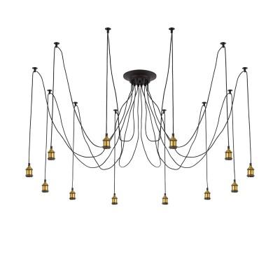 Citilux Эдисон CL451121 Люстра подвеснаяОжидается<br><br><br>Тип лампы: накаливания / энергосбережения / LED-светодиодная<br>Тип цоколя: E27<br>Цвет арматуры: черный<br>Количество ламп: 12<br>Длина, мм: 2500<br>MAX мощность ламп, Вт: 60