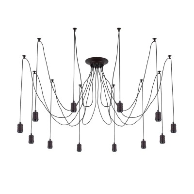 Citilux Эдисон CL451122 Люстра подвеснаяПодвесные<br><br><br>S освещ. до, м2: 36<br>Тип лампы: накаливания / энергосбережения / LED-светодиодная<br>Тип цоколя: E27<br>Цвет арматуры: черный<br>Количество ламп: 12<br>Длина, мм: 2500<br>MAX мощность ламп, Вт: 60