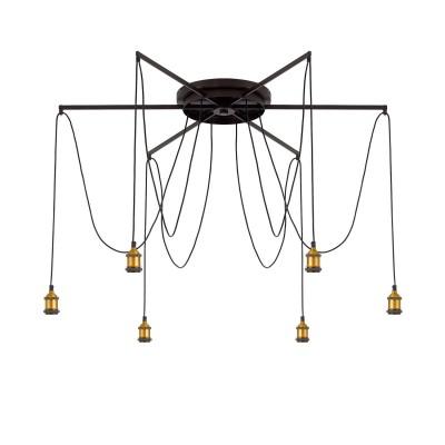 Citilux Эдисон CL451261 Люстра подвеснаяПодвесные<br><br><br>S освещ. до, м2: 18<br>Тип лампы: накаливания / энергосбережения / LED-светодиодная<br>Тип цоколя: E27<br>Цвет арматуры: черный<br>Количество ламп: 6<br>Диаметр, мм мм: 1200<br>Длина, мм: 2250<br>MAX мощность ламп, Вт: 60