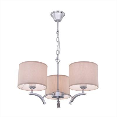 Citilux Эвора Рондо CL460131 Люстра подвеснаяПодвесные<br><br><br>Установка на натяжной потолок: Да<br>S освещ. до, м2: 11<br>Тип лампы: накаливания / энергосбережения / LED-светодиодная<br>Тип цоколя: E27<br>Цвет арматуры: серебристый<br>Количество ламп: 3<br>Диаметр, мм мм: 550<br>Высота, мм: 1200<br>MAX мощность ламп, Вт: 75