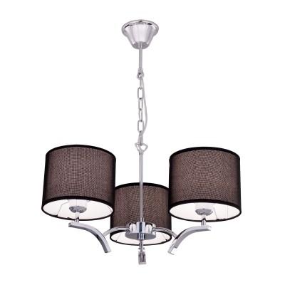 Citilux Эвора Рондо CL460132 Люстра подвеснаяПодвесные<br><br><br>Установка на натяжной потолок: Да<br>S освещ. до, м2: 11<br>Тип лампы: накаливания / энергосбережения / LED-светодиодная<br>Тип цоколя: E27<br>Количество ламп: 3<br>MAX мощность ламп, Вт: 75<br>Диаметр, мм мм: 550<br>Высота, мм: 1200<br>Цвет арматуры: серебристый