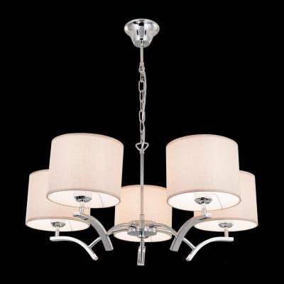 Citilux Эвора Рондо CL460151 Люстра подвеснаяПодвесные<br><br><br>Установка на натяжной потолок: Да<br>S освещ. до, м2: 18<br>Тип лампы: накаливания / энергосбережения / LED-светодиодная<br>Тип цоколя: E27<br>Количество ламп: 5<br>MAX мощность ламп, Вт: 75<br>Диаметр, мм мм: 680<br>Высота, мм: 1200<br>Цвет арматуры: серебристый