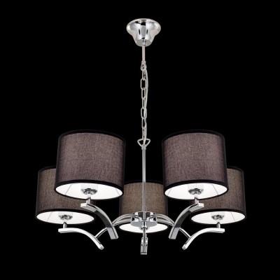 Citilux Эвора Рондо CL460152 Люстра подвеснаяПодвесные<br><br><br>Установка на натяжной потолок: Да<br>S освещ. до, м2: 18<br>Тип лампы: накаливания / энергосбережения / LED-светодиодная<br>Тип цоколя: E27<br>Количество ламп: 5<br>MAX мощность ламп, Вт: 75<br>Диаметр, мм мм: 680<br>Высота, мм: 1200<br>Цвет арматуры: серебристый