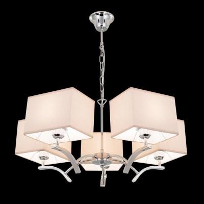 Citilux Эвора Квадро CL460251 Люстра подвеснаясовременные подвесные люстры модерн<br><br><br>Установка на натяжной потолок: Да<br>S освещ. до, м2: 18<br>Тип лампы: накаливания / энергосбережения / LED-светодиодная<br>Тип цоколя: E27<br>Цвет арматуры: серебристый<br>Количество ламп: 5<br>Диаметр, мм мм: 680<br>Высота, мм: 1200<br>MAX мощность ламп, Вт: 75