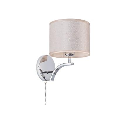 Citilux Эвора Рондо CL460311 Брасовременные бра модерн<br><br><br>S освещ. до, м2: 4<br>Тип лампы: накаливания / энергосбережения / LED-светодиодная<br>Тип цоколя: E27<br>Цвет арматуры: серебристый<br>Количество ламп: 1<br>Ширина, мм: 180<br>Расстояние от стены, мм: 230<br>Высота, мм: 240<br>MAX мощность ламп, Вт: 75