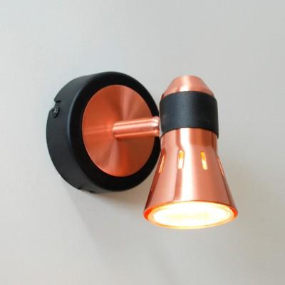 Citilux Техно CL503512 Светильник настенно-потолочныйОдиночные<br><br><br>Тип лампы: галогенная / LED-светодиодная<br>Тип цоколя: GU10<br>Количество ламп: 1<br>Ширина, мм: 90<br>MAX мощность ламп, Вт: 50<br>Размеры: Лампа GU10 приложена, Высота 12см, Ширина 9см, Глубина 14см, Размер головки 9см.<br>Расстояние от стены, мм: 140<br>Высота, мм: 120<br>Цвет арматуры: медный, черный