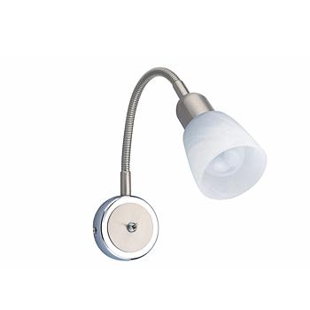 Citilux Ронда CL506311 Светильник поворотный спотОдиночные<br>Также рекомендуем посмотреть другие споты и трек-системы из серии Ронда. Спот CL506311 CITILUX - Дания из серии Ронда - идеальная возможность улучшить абсолютно любое пространство.<br><br>S освещ. до, м2: 4<br>Тип лампы: накал-я - энергосбер-я<br>Тип цоколя: E14<br>Количество ламп: 1<br>Ширина, мм: 85<br>MAX мощность ламп, Вт: 60<br>Размеры: Алебастровое белое стекло, С выключателем, Размер головки 15см.<br>Расстояние от стены, мм: 200<br>Поверхность арматуры: матовый<br>Цвет арматуры: серебристый