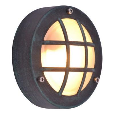 Уличный светильник Arte lamp A2361AL-1BG LanternsНастенные<br><br><br>S освещ. до, м2: 2<br>Крепление: пластина<br>Тип товара: Светильник уличный настенный<br>Тип лампы: галогенная / LED-светодиодная<br>Тип цоколя: G9<br>Количество ламп: 1<br>Ширина, мм: 150<br>MAX мощность ламп, Вт: 20<br>Диаметр, мм мм: 60<br>Высота, мм: 150<br>Цвет арматуры: медь