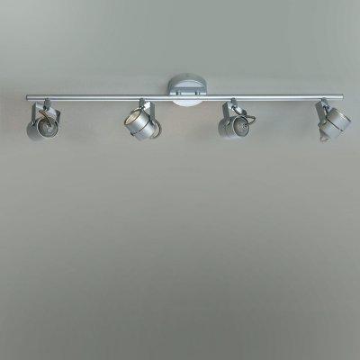 Citilux CL525541 Светильник поворотный спотС 4 лампами<br>Светильники-споты – это оригинальные изделия с современным дизайном. Они позволяют не ограничивать свою фантазию при выборе освещения для интерьера. Такие модели обеспечивают достаточно качественный свет. Благодаря компактным размерам Вы можете использовать несколько спотов для одного помещения.  Интернет-магазин «Светодом» предлагает необычный светильник-спот Citilux CL525541 по привлекательной цене. Эта модель станет отличным дополнением к люстре, выполненной в том же стиле. Перед оформлением заказа изучите характеристики изделия.  Купить светильник-спот Citilux CL525541 в нашем онлайн-магазине Вы можете либо с помощью формы на сайте, либо по указанным выше телефонам. Обратите внимание, что у нас склады не только в Москве и Екатеринбурге, но и других городах России.<br><br>S освещ. до, м2: 13<br>Тип лампы: галогенная / LED-светодиодная<br>Тип цоколя: GU10<br>Количество ламп: 4<br>Ширина, мм: 560<br>MAX мощность ламп, Вт: 50<br>Размеры: Диаметр основания 10см, Трубка 56см, Размер головки 8см<br>Высота, мм: 80<br>Поверхность арматуры: глянцевый<br>Цвет арматуры: серебристый