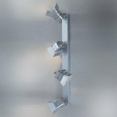 Citilux CL526541S Светильник поворотный спотС 4 лампами<br>Светильники-споты – это оригинальные изделия с современным дизайном. Они позволяют не ограничивать свою фантазию при выборе освещения для интерьера. Такие модели обеспечивают достаточно качественный свет. Благодаря компактным размерам Вы можете использовать несколько спотов для одного помещения.  Интернет-магазин «Светодом» предлагает необычный светильник-спот Citilux CL526541S по привлекательной цене. Эта модель станет отличным дополнением к люстре, выполненной в том же стиле. Перед оформлением заказа изучите характеристики изделия.  Купить светильник-спот Citilux CL526541S в нашем онлайн-магазине Вы можете либо с помощью формы на сайте, либо по указанным выше телефонам. Обратите внимание, что у нас склады не только в Москве и Екатеринбурге, но и других городах России.<br><br>S освещ. до, м2: 13<br>Тип лампы: галогенная / LED-светодиодная<br>Тип цоколя: GU10<br>Количество ламп: 4<br>Ширина, мм: 90<br>MAX мощность ламп, Вт: 50<br>Размеры: Основание 5хХХсм, Размер головки 8см<br>Длина, мм: 150<br>Высота, мм: 575<br>Поверхность арматуры: глянцевый<br>Цвет арматуры: серебристый