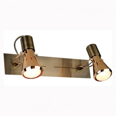 Citilux Марс CL527523 Светильник поворотный спотДвойные<br>Светильники-споты – это оригинальные изделия с современным дизайном. Они позволяют не ограничивать свою фантазию при выборе освещения для интерьера. Такие модели обеспечивают достаточно качественный свет. Благодаря компактным размерам Вы можете использовать несколько спотов для одного помещения.  Интернет-магазин «Светодом» предлагает необычный светильник-спот Citilux CL527523 по привлекательной цене. Эта модель станет отличным дополнением к люстре, выполненной в том же стиле. Перед оформлением заказа изучите характеристики изделия.  Купить светильник-спот Citilux CL527523 в нашем онлайн-магазине Вы можете либо с помощью формы на сайте, либо по указанным выше телефонам. Обратите внимание, что у нас склады не только в Москве и Екатеринбурге, но и других городах России.<br><br>S освещ. до, м2: 5<br>Крепление: настенное<br>Тип лампы: зеркальная<br>Тип цоколя: R50(E14)<br>Количество ламп: 2<br>Ширина, мм: 70<br>MAX мощность ламп, Вт: 40<br>Размеры: Основание 32х7см, Размер головки 13см<br>Длина, мм: 320<br>Высота, мм: 130<br>Оттенок (цвет): белый<br>Цвет арматуры: бронзовый