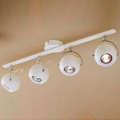 Citilux Сфера CL532542 Светильник настенно-потолочныйС 4 лампами<br>Светильники-споты – это оригинальные изделия с современным дизайном. Они позволяют не ограничивать свою фантазию при выборе освещения для интерьера. Такие модели обеспечивают достаточно качественный свет. Благодаря компактным размерам Вы можете использовать несколько спотов для одного помещения.  Интернет-магазин «Светодом» предлагает необычный светильник-спот Citilux CL532542 по привлекательной цене. Эта модель станет отличным дополнением к люстре, выполненной в том же стиле. Перед оформлением заказа изучите характеристики изделия.  Купить светильник-спот Citilux CL532542 в нашем онлайн-магазине Вы можете либо с помощью формы на сайте, либо по указанным выше телефонам. Обратите внимание, что у нас склады не только в Москве и Екатеринбурге, но и других городах России.<br><br>S освещ. до, м2: 10<br>Тип лампы: галогенная/LED<br>Тип цоколя: GU10<br>Цвет арматуры: белый<br>Количество ламп: 4<br>Ширина, мм: 140<br>Размеры: Длина штанги 70см, Диаметр шара 10см, Шнур в текстильной оболочке<br>Длина, мм: 195<br>Высота, мм: 755<br>MAX мощность ламп, Вт: 50