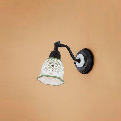 Citilux CL534512 Светильник настенный браРустика<br><br><br>S освещ. до, м2: 4<br>Тип лампы: накаливания / энергосбережения / LED-светодиодная<br>Тип цоколя: E14<br>Количество ламп: 1<br>Ширина, мм: 95<br>MAX мощность ламп, Вт: 60<br>Размеры: Ширина 9,5см, Высота 14см, Глубина 17см, Размер головки 14см, Ажурный керамическиий плафон с ручной росписью<br>Расстояние от стены, мм: 170<br>Высота, мм: 140<br>Поверхность арматуры: матовый<br>Цвет арматуры: черный