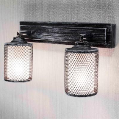 Citilux Робин CL535521 Светильник настенно-потолочныйМорской стиль<br><br><br>Тип лампы: Накаливания / энергосбережения / светодиодная<br>Тип цоколя: E14<br>Количество ламп: 2<br>Ширина, мм: 140<br>MAX мощность ламп, Вт: 60<br>Длина, мм: 270<br>Высота, мм: 200<br>Цвет арматуры: серебристый