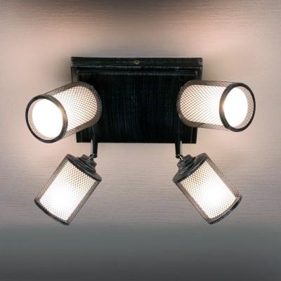 Citilux Робин CL535541 Светильник настенно-потолочныйПоворотные<br>Компания «Светодом» предлагает широкий ассортимент люстр от известных производителей. Представленные в нашем каталоге товары выполнены из современных материалов и обладают отличным качеством. Благодаря широкому ассортименту Вы сможете найти у нас люстру под любой интерьер. Мы предлагаем как классические варианты, так и современные модели, отличающиеся лаконичностью и простотой форм.  Стильная люстра Citilux CL535541 станет украшением любого дома. Эта модель от известного производителя не оставит равнодушным ценителей красивых и оригинальных предметов интерьера. Люстра Citilux CL535541 обеспечит равномерное распределение света по всей комнате. При выборе обратите внимание на характеристики, позволяющие приобрести наиболее подходящую модель. Купить понравившуюся люстру по доступной цене Вы можете в интернет-магазине «Светодом».<br><br>Установка на натяжной потолок: Ограничено<br>S освещ. до, м2: 12<br>Крепление: Планка<br>Тип лампы: Накаливания / энергосбережения / светодиодная<br>Тип цоколя: E14<br>Количество ламп: 4<br>Ширина, мм: 240<br>MAX мощность ламп, Вт: 60<br>Длина, мм: 240<br>Высота, мм: 140<br>Цвет арматуры: черный