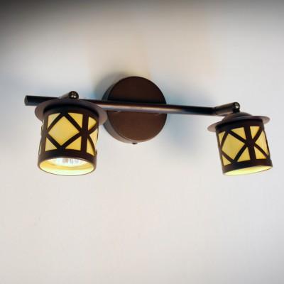 Citilux Гессен CL536521 Светильник настенно-потолочныйДвойные<br><br><br>Тип лампы: галогенная / LED-светодиодная<br>Тип цоколя: GU10<br>Количество ламп: 2<br>Ширина, мм: 300<br>MAX мощность ламп, Вт: 50<br>Размеры: Диаметр основания 9см, Длина штанги 30см, Глубина до 14см, Размер головки 9см<br>Расстояние от стены, мм: 140<br>Цвет арматуры: коричневый
