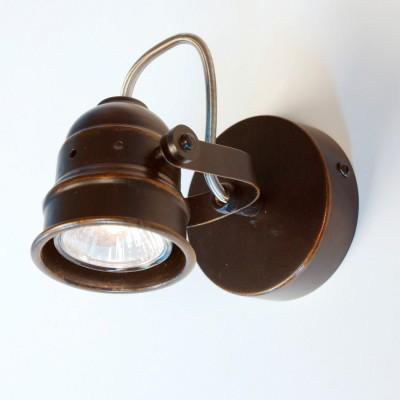 Citilux Веймар CL537511 Светильник настенно-потолочныйОдиночные<br><br><br>S освещ. до, м2: 3<br>Тип лампы: галогенная / LED-светодиодная<br>Тип цоколя: GU10<br>Цвет арматуры: коричневый<br>Количество ламп: 1<br>Диаметр, мм мм: 90<br>Размеры: Диаметр основания 9см, Глубина до 14см, Размер головки 9см<br>Расстояние от стены, мм: 140<br>MAX мощность ламп, Вт: 50