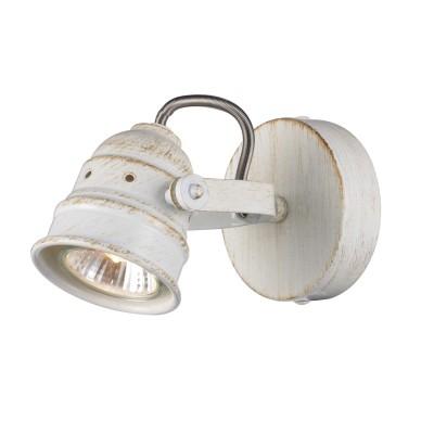 Citilux Веймар CL537512 Светильник настенно-потолочныйОдиночные<br><br><br>Тип лампы: галогенная / LED-светодиодная<br>Тип цоколя: GU10<br>Количество ламп: 1<br>MAX мощность ламп, Вт: 50<br>Диаметр, мм мм: 90<br>Размеры: Диаметр основания 9см, Глубина до 14см, Размер головки 9см<br>Расстояние от стены, мм: 140<br>Цвет арматуры: белый с золотистой патиной