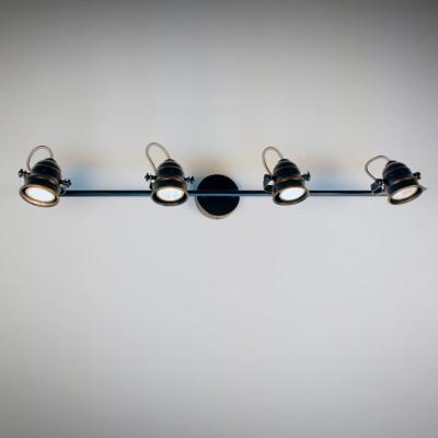 Citilux Веймар CL537541 Светильник настенно-потолочныйС 4 лампами<br><br><br>Тип товара: Светильник настенно-потолочный<br>Тип лампы: галогенная / LED-светодиодная<br>Тип цоколя: GU10<br>Количество ламп: 4<br>Ширина, мм: 740<br>MAX мощность ламп, Вт: 50<br>Размеры: Диаметр основания 9см, Длина штанги 74см, Глубина до 16см, Размер головки 9см<br>Расстояние от стены, мм: 160<br>Поверхность арматуры: матовый, глянцевый<br>Цвет арматуры: коричневый