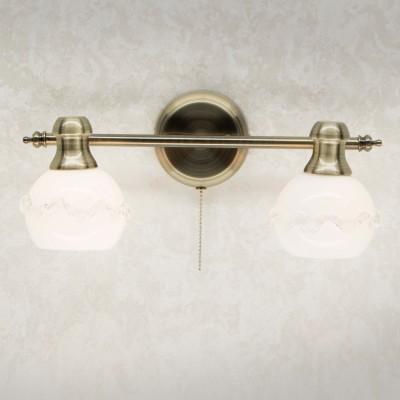 Citilux Кампана CL540521 Светильник настненно-потолочныйКлассика<br><br><br>Тип лампы: накаливания / энергосбережения / LED-светодиодная<br>Тип цоколя: E14<br>Количество ламп: 2<br>Ширина, мм: 165<br>MAX мощность ламп, Вт: 60<br>Длина, мм: 365<br>Высота, мм: 155