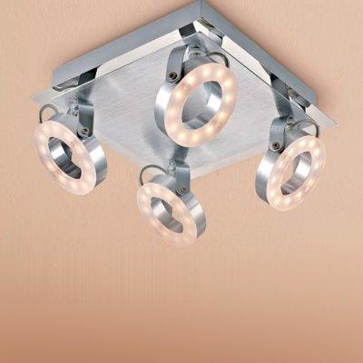 Citilux Бильбо CL553541 Светильник поворотный спотС 4 лампами<br>Светильники-споты – это оригинальные изделия с современным дизайном. Они позволяют не ограничивать свою фантазию при выборе освещения для интерьера. Такие модели обеспечивают достаточно качественный свет. Благодаря компактным размерам Вы можете использовать несколько спотов для одного помещения.  Интернет-магазин «Светодом» предлагает необычный светильник-спот Citilux CL553541 по привлекательной цене. Эта модель станет отличным дополнением к люстре, выполненной в том же стиле. Перед оформлением заказа изучите характеристики изделия.  Купить светильник-спот Citilux CL553541 в нашем онлайн-магазине Вы можете либо с помощью формы на сайте, либо по указанным выше телефонам. Обратите внимание, что у нас склады не только в Москве и Екатеринбурге, но и других городах России.<br><br>S освещ. до, м2: 1<br>Цветовая t, К: 3000<br>Тип лампы: LED - светодиодная<br>Тип цоколя: LED<br>Количество ламп: 4<br>Ширина, мм: 220<br>MAX мощность ламп, Вт: 6<br>Размеры: LED 6W<br>Длина, мм: 220<br>Высота, мм: 130<br>Цвет арматуры: серебристый