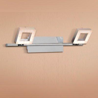 Citilux Квадро CL554521 Светильник поворотный спотДвойные<br><br><br>Тип товара: Светильник поворотный спот<br>Цветовая t, К: 3000<br>Тип лампы: LED - светодиодная<br>Тип цоколя: LED<br>Количество ламп: 2<br>Ширина, мм: 440<br>MAX мощность ламп, Вт: 6,4<br>Размеры: LED 6,4W<br>Расстояние от стены, мм: 190<br>Высота, мм: 80<br>Поверхность арматуры: глянцевый<br>Цвет арматуры: серебристый