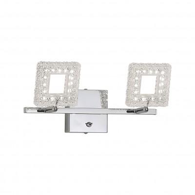 Citilux CL559621 Светильник поворотный спотДвойные<br><br><br>S освещ. до, м2: 10<br>Цветовая t, К: 3000<br>Тип лампы: LED - светодиодная<br>Тип цоколя: LED<br>Цвет арматуры: серебристый<br>Количество ламп: 2<br>Ширина, мм: 320<br>Расстояние от стены, мм: 130<br>Высота, мм: 160<br>MAX мощность ламп, Вт: 12