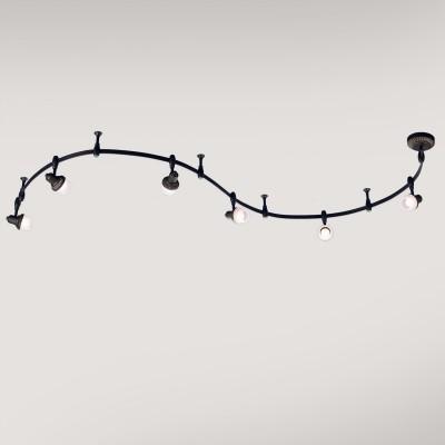 Citilux Антиб CL562161 Трековый светильникСветильники для трека<br><br><br>Тип лампы: накаливания / энергосбережения / LED-светодиодная<br>Тип цоколя: E14<br>Количество ламп: 6<br>Ширина, мм: 155<br>MAX мощность ламп, Вт: 60<br>Длина, мм: 3000<br>Высота, мм: 235