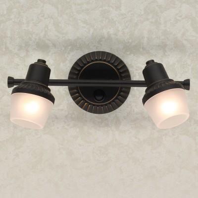 Citilux Антиб CL562521 Светильник настненно-потолочныйКованые<br><br><br>Тип лампы: накаливания / энергосбережения / LED-светодиодная<br>Тип цоколя: E14<br>Количество ламп: 2<br>Ширина, мм: 190<br>MAX мощность ламп, Вт: 60<br>Длина, мм: 340<br>Высота, мм: 175