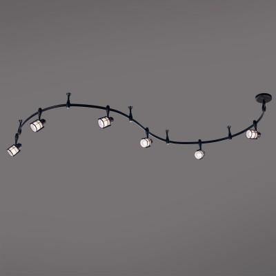 Citilux Реймс CL563161 Трековый светильникСветильники для трека<br><br><br>Тип лампы: накаливания / энергосбережения / LED-светодиодная<br>Тип цоколя: E14<br>Количество ламп: 6<br>Ширина, мм: 155<br>MAX мощность ламп, Вт: 60<br>Длина, мм: 3000<br>Высота, мм: 230
