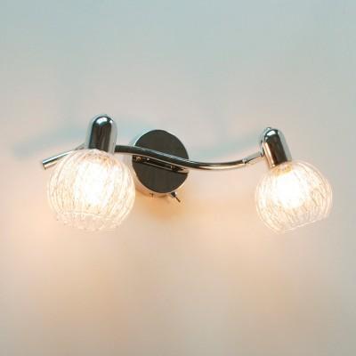 Светильник Citilux CL604521 ПопурриДвойные<br>Светильники-споты – это оригинальные изделия с современным дизайном. Они позволяют не ограничивать свою фантазию при выборе освещения для интерьера. Такие модели обеспечивают достаточно качественный свет. Благодаря компактным размерам Вы можете использовать несколько спотов для одного помещения.  Интернет-магазин «Светодом» предлагает необычный светильник-спот Citilux CL604521 Попурри по привлекательной цене. Эта модель станет отличным дополнением к люстре, выполненной в том же стиле. Перед оформлением заказа изучите характеристики изделия.  Купить светильник-спот Citilux CL604521 Попурри в нашем онлайн-магазине Вы можете либо с помощью формы на сайте, либо по указанным выше телефонам. Обратите внимание, что у нас склады не только в Москве и Екатеринбурге, но и других городах России.<br><br>S освещ. до, м2: 6<br>Тип лампы: накал-я - энергосбер-я<br>Тип цоколя: E14<br>Цвет арматуры: серебристый хром<br>Количество ламп: 2<br>Размеры: Диаметр основания 10см, размер головки 13см, прозрачное стекло с внутренним алюминиевым декором<br>Поверхность арматуры: глянцевый<br>MAX мощность ламп, Вт: 60