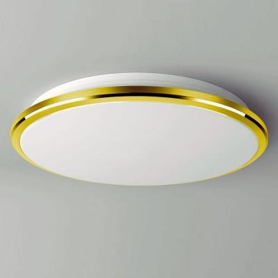 Citilux Луна CL702302W Светильник настненно-потолочныйКруглые<br>Настенно-потолочные светильники – это универсальные осветительные варианты, которые подходят для вертикального и горизонтального монтажа. В интернет-магазине «Светодом» Вы можете приобрести подобные модели по выгодной стоимости. В нашем каталоге представлены как бюджетные варианты, так и эксклюзивные изделия от производителей, которые уже давно заслужили доверие дизайнеров и простых покупателей.  Настенно-потолочный светильник Citilux CL702302W станет прекрасным дополнением к основному освещению. Благодаря качественному исполнению и применению современных технологий при производстве эта модель будет радовать Вас своим привлекательным внешним видом долгое время. Приобрести настенно-потолочный светильник Citilux CL702302W можно, находясь в любой точке России.<br><br>S освещ. до, м2: 15<br>Цветовая t, К: 3000K<br>Тип лампы: LED-светодиодная<br>Тип цоколя: LED<br>MAX мощность ламп, Вт: 30<br>Диаметр, мм мм: 380<br>Высота, мм: 65<br>Цвет арматуры: золотой<br>Общая мощность, Вт: 30W светодиодов = 300W накаливания