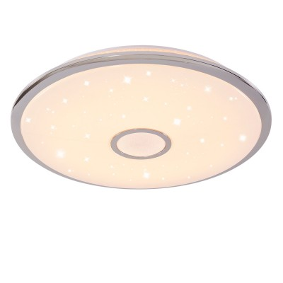 Citilux Старлайт CL703100R Светильниккруглые светильники<br>Настенно-потолочные светильники – это универсальные осветительные варианты, которые подходят для вертикального и горизонтального монтажа. В интернет-магазине «Светодом» Вы можете приобрести подобные модели по выгодной стоимости. В нашем каталоге представлены как бюджетные варианты, так и эксклюзивные изделия от производителей, которые уже давно заслужили доверие дизайнеров и простых покупателей. <br>Настенно-потолочный светильник Citilux CL703100R станет прекрасным дополнением к основному освещению. Благодаря качественному исполнению и применению современных технологий при производстве эта модель будет радовать Вас своим привлекательным внешним видом долгое время. <br>Приобрести настенно-потолочный светильник Citilux CL703100R можно, находясь в любой точке России.<br><br>S освещ. до, м2: 50<br>Цветовая t, К: 3000K-4500K<br>Тип лампы: LED-светодиодная<br>Тип цоколя: LED<br>Цвет арматуры: серебристый хром<br>Диаметр, мм мм: 670<br>Высота, мм: 105<br>MAX мощность ламп, Вт: 100<br>Общая мощность, Вт: 100W светодиодов = 1000W накаливания