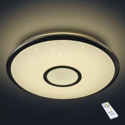 Citilux Старлайт CL70340R Светодиодный светильник с пультомПотолочные<br>Компания «Светодом» предлагает широкий ассортимент люстр от известных производителей. Представленные в нашем каталоге товары выполнены из современных материалов и обладают отличным качеством. Благодаря широкому ассортименту Вы сможете найти у нас люстру под любой интерьер. Мы предлагаем как классические варианты, так и современные модели, отличающиеся лаконичностью и простотой форм.  Стильная люстра Citilux CL70340R станет украшением любого дома. Эта модель от известного производителя не оставит равнодушным ценителей красивых и оригинальных предметов интерьера. Люстра Citilux CL70340R обеспечит равномерное распределение света по всей комнате. При выборе обратите внимание на характеристики, позволяющие приобрести наиболее подходящую модель. Купить понравившуюся люстру по доступной цене Вы можете в интернет-магазине «Светодом».<br><br>Установка на натяжной потолок: Да<br>S освещ. до, м2: 20<br>Крепление: Планка<br>Цветовая t, К: 3000 - 4500<br>Тип лампы: LED<br>Тип цоколя: LED<br>MAX мощность ламп, Вт: 40<br>Диаметр, мм мм: 490<br>Высота, мм: 90<br>Цвет арматуры: серебристый<br>Общая мощность, Вт: 40W светодиодов = 400W ламп накаливания