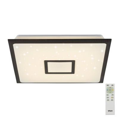 CL70355R СтарЛайт Венге Светодиод. Св-к с пультомлюстры хай тек потолочные<br><br><br>S освещ. до, м2: 18<br>Цветовая t, К: 3000 - 4500<br>Тип лампы: LED<br>Тип цоколя: LED<br>Цвет арматуры: Венге<br>Ширина, мм: 490<br>Длина, мм: 490<br>Высота, мм: 90<br>Поверхность арматуры: Матовая<br>Общая мощность, Вт: 50