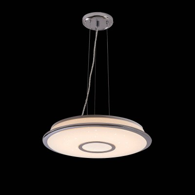 CL70360RS Citilux СТАРЛАЙТПодвесные<br><br><br>Установка на натяжной потолок: Да<br>S освещ. до, м2: 16<br>Тип лампы: LED<br>Тип цоколя: LED<br>Цвет арматуры: серебристый хром<br>Диаметр, мм мм: 465<br>Высота, мм: 210 - 1300<br>MAX мощность ламп, Вт: 40