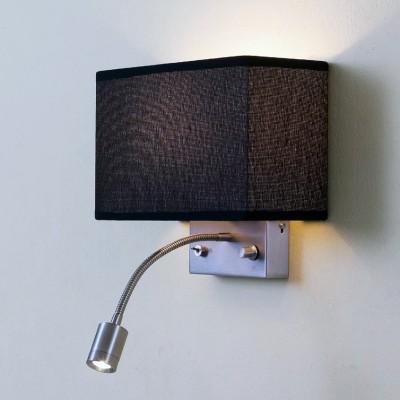 Citilux Декарт CL704301 Светильник настенный браСовременные<br><br><br>Тип лампы: Накаливания / энергосбережения / светодиодная<br>Тип цоколя: E14<br>Количество ламп: 2<br>Ширина, мм: 240<br>MAX мощность ламп, Вт: 60<br>Размеры: Светильник комбинирует общий и направленный свет с их раздельным включением, Основное назначение - прикроватный светильник, Диммированая лампа Е14*60Вт для общего света, Светодиодная лампа 3Вт теплого света (ЦТ=3000К) с регулировкой положения - для чтения<br>Расстояние от стены, мм: 110<br>Высота, мм: 240<br>Цвет арматуры: серебристый