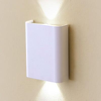 Citilux Декарт CL704400 Светильник настенный браХай-тек<br><br><br>Цветовая t, К: 3000<br>Тип лампы: LED<br>Тип цоколя: LED<br>Количество ламп: 2<br>Ширина, мм: 100<br>MAX мощность ламп, Вт: 3<br>Размеры: Ширина 8см, Высота 10см, Глубина 3,5см, C выключателем, Мощность 3W+3W<br>Длина, мм: 125<br>Высота, мм: 45<br>Цвет арматуры: белый