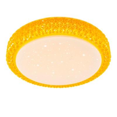 Citilux Кристалино CL705012 Светильник настненно-потолочныйКруглые<br>Настенно-потолочные светильники – это универсальные осветительные варианты, которые подходят для вертикального и горизонтального монтажа. В интернет-магазине «Светодом» Вы можете приобрести подобные модели по выгодной стоимости. В нашем каталоге представлены как бюджетные варианты, так и эксклюзивные изделия от производителей, которые уже давно заслужили доверие дизайнеров и простых покупателей.  Настенно-потолочный светильник Citilux CL705012 станет прекрасным дополнением к основному освещению. Благодаря качественному исполнению и применению современных технологий при производстве эта модель будет радовать Вас своим привлекательным внешним видом долгое время. Приобрести настенно-потолочный светильник Citilux CL705012 можно, находясь в любой точке России.<br><br>S освещ. до, м2: 7<br>Цветовая t, К: 3000K<br>Тип лампы: LED-светодиодная<br>Тип цоколя: LED<br>Количество ламп: 18<br>MAX мощность ламп, Вт: 1<br>Диаметр, мм мм: 280<br>Высота, мм: 70<br>Цвет арматуры: Желтый