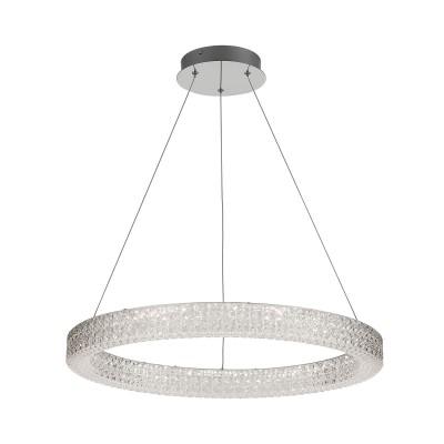 Citilux Кристалино CL705311 Светильник подвеснойПодвесные<br><br><br>Установка на натяжной потолок: Да<br>Цветовая t, К: 3000K<br>Тип лампы: LED-светодиодная<br>Тип цоколя: LED<br>MAX мощность ламп, Вт: 36<br>Диаметр, мм мм: 600<br>Высота, мм: 400 - 1200<br>Цвет арматуры: серебристый