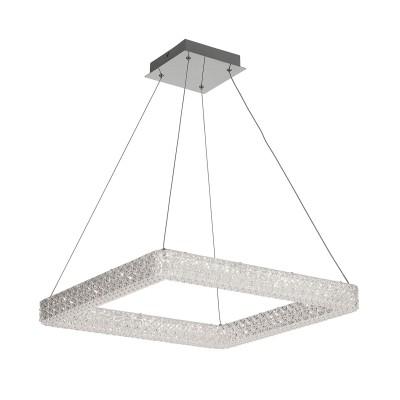 Citilux Кристалино CL705411 Светильник подвеснойПодвесные<br><br><br>Установка на натяжной потолок: Да<br>S освещ. до, м2: 14<br>Цветовая t, К: 3000K<br>Тип лампы: LED-светодиодная<br>Тип цоколя: LED<br>Ширина, мм: 550<br>MAX мощность ламп, Вт: 36<br>Длина, мм: 550<br>Высота, мм: 400 - 1200<br>Цвет арматуры: серебристый