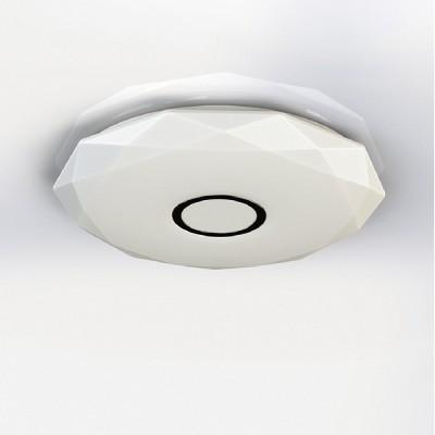 CL71310 Диамант Хром LED СветильникПотолочные<br>Диаметр 21 см,  Высота 5 см, Светодиодный светильник, Уровень мощности 100-50-10% управляется выключателем, красивейший эффект хрустального света<br><br>Установка на натяжной потолок: Да<br>S освещ. до, м2: 5<br>Цветовая t, К: 3000<br>Тип лампы: LED<br>Тип цоколя: LED<br>Количество ламп: 1<br>MAX мощность ламп, Вт: 12<br>Диаметр, мм мм: 210<br>Высота, мм: 50