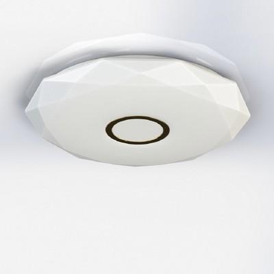 CL71312 Диамант Золото LED СветильникПотолочные<br>Диаметр 21 см,  Высота 5 см, Светодиодный светильник, Уровень мощности 100-50-10% управляется выключателем, красивейший эффект хрустального света<br><br>Установка на натяжной потолок: Да<br>S освещ. до, м2: 5<br>Цветовая t, К: 3000<br>Тип лампы: LED<br>Тип цоколя: LED<br>Количество ламп: 1<br>Диаметр, мм мм: 210<br>Высота, мм: 50<br>MAX мощность ламп, Вт: 12