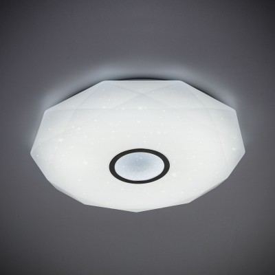 Citilux CL71380R Диамант LED Св-к с пультомПотолочные<br><br><br>S освещ. до, м2: 32<br>Тип лампы: LED<br>Тип цоколя: LED<br>MAX мощность ламп, Вт: 80<br>Диаметр, мм мм: 590<br>Высота, мм: 75