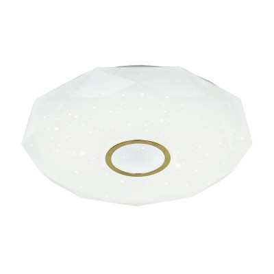 Citilux CL71382R Диамант LED Св-к с пультомлюстры хай тек потолочные<br><br><br>Установка на натяжной потолок: Да<br>S освещ. до, м2: 32<br>Тип лампы: LED<br>Тип цоколя: LED<br>Цвет арматуры: золотой<br>Диаметр, мм мм: 590<br>Высота, мм: 85<br>MAX мощность ламп, Вт: 80
