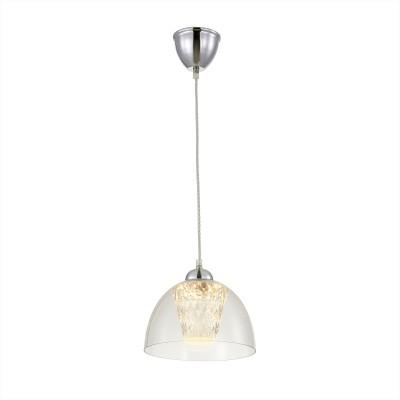 Citilux Топаз CL717111 Светильник подвеснойОдиночные<br><br><br>Цветовая t, К: 3000K<br>Тип лампы: LED-светодиодная<br>Тип цоколя: LED<br>MAX мощность ламп, Вт: 12<br>Диаметр, мм мм: 230<br>Высота, мм: 400 - 1200